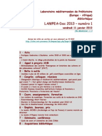 LAMPEA-Doc 2013 – numéro 1 / vendredi 11 janvier 2013