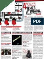Programme du festival Fllmer le travail 2013, Poitiers