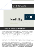 Feasibility Study Template