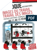 Colloque scientifique, Filmer le travail 2013