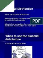Binomial disribution