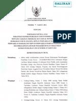 Tentang Perubahan Ketiga Atas Peraturan Komisi Pemilihan Umum Nomor 07 Tahun 2012 Tentang Tahapan, Program, dan Jadual Penyelenggaraan Pemilihan Umum Dewan Perwakilan Rakyat, Dewan Perwakilan Daerah, dan Dewan Perwakilan Rakyat Daerah Tahun 2014 Sebagaimana Diubah Terakhir Dengan Peraturan Komisi Pemilihan Umum Nomor 15 Tahun 2012.