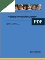 Bolivian Education Reform, 1992-2002