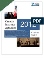 Canada Institute Activities 2012