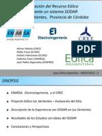 Evaluación del Recurso Eólico  mediante un sistema SODAR  en  Las Vertientes,  Provincia de Córdoba ARGENTINA
