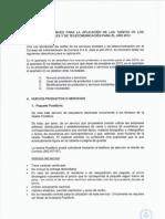 Anexo II Directrices Tarifas 2012
