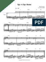 Spy vs Spy Theme (video game sheet music piano)