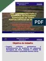 UMA CONTRIBUÇÃO PARA A AUDITORIA EM PEQUENAS BARRAGENS DE TERRA: PONTOS CRÍTICOS DE ANÁLISE