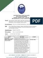 LMU Board Meeting October 04, 2012 Minutes