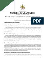 Pio Xi Mortalium Animos