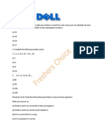 DELL Placement Paper   Freshers Choice