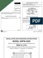 KBPW DC Drive Series Manual