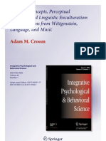 Aesthetic Concepts, Perceptual Learning, And Linguistic Enculturation - Croom 2012 (Free for Educational Use)