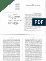 Adorno Theodor Lyric Poetry and Society