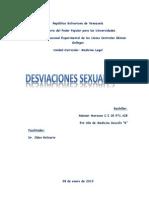 Desviaciones Sexuales. Medicina Legal
