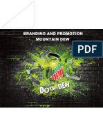 Branding and Promotions - Mountain Dew