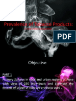 Prevalence of Tobacco Products