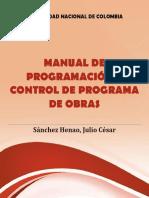 Manual de programación y control de programa de obras - Julio Sanchez