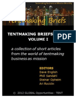 Tentmaking Briefs - A Collection of Short Articles from the World of Tentmaking Business as Mission