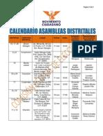 Calendario Asambleas D.F.