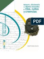 Tesauro y Diccionario de Objetos Asociados a Ritos, Cultos y Creencias; Isabel Trinidad Lafuente