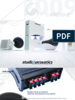 Studio Accoustics 2009 General Catalogue