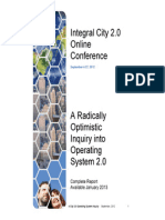 Integral City 2.0 Online Conference Proceedings