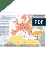 Carte des camps en Europe