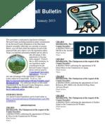 January 2013 Legislation Edition