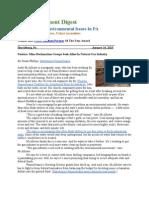 PA Environment Digest Jan. 14, 2013