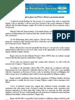 Women's group gives piece on PNoy's divorce pronouncement