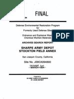 Sharpe Army Depot History