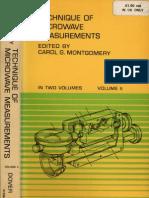 Montgomery TechniqueOfMicrowaveMeasurementsVolume2