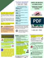 Open Burn Guidelines TN