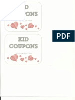 Coupon Book Cover