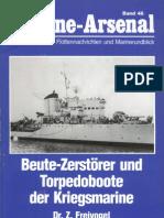 [Marine-Arsenal 046] Beute-Zerstorer Und Torpedoboote Der Kriegsmarine