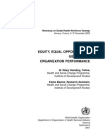 EQUITY, EQUAL OPPORTUNITIES,Gender and Organization Performance
