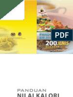 Panduan Nilai Kalori 200 Makanan Malaysia