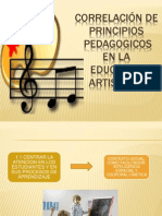 CORRELACIÓN DE PRINCIPIOS PEDAGOGICOS EN LA EDUCACION ARTISTICAS