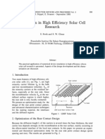 Simulation in High Efficiency Solar Cell Research