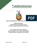 Manual de Mantenimiento y Operacion de Un Torno