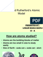 Bohr and Rutherford's Atomic model