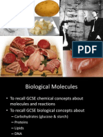 Revision of Biological Molecules