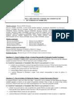 Compte-rendu AG communauté de communes d'Avranches - 06/10/2012