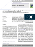 Thermal stability and miscibility of poly(hydroxybutyrate) and soda lignin blends