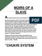 Memoirs of a Slave