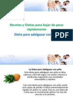 dietas y recetas para adelgazar