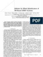 On MMSE Methods for Blind Identification of OFDM-Based SIMO Systems