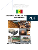 Production de Briques d'Argiles