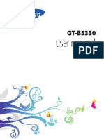 Samsung GT-B5330 user manual